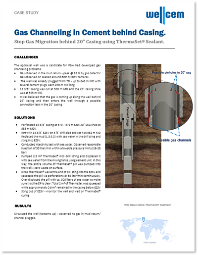 Wellcem Case Study - Gas Channeling in Cement behind Casing - Norwegian Continental Shelf